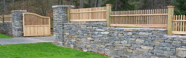 Landscape installation - Chappaqua NY - Rock Wall