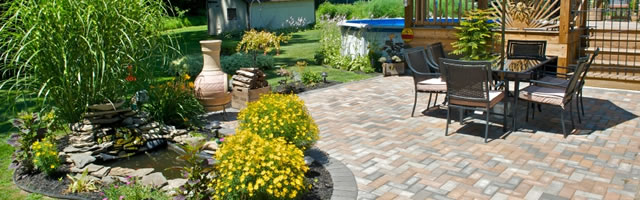 Stone patio installation - Chappaqua NY