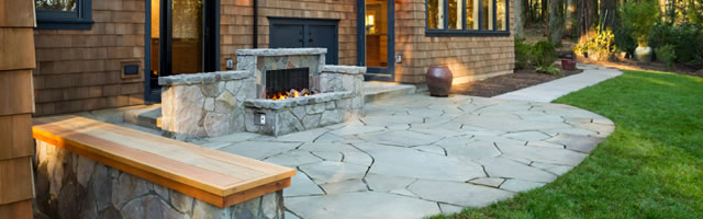 Landscape Installation - Outdoor Fireplaces - Chappaqua NY